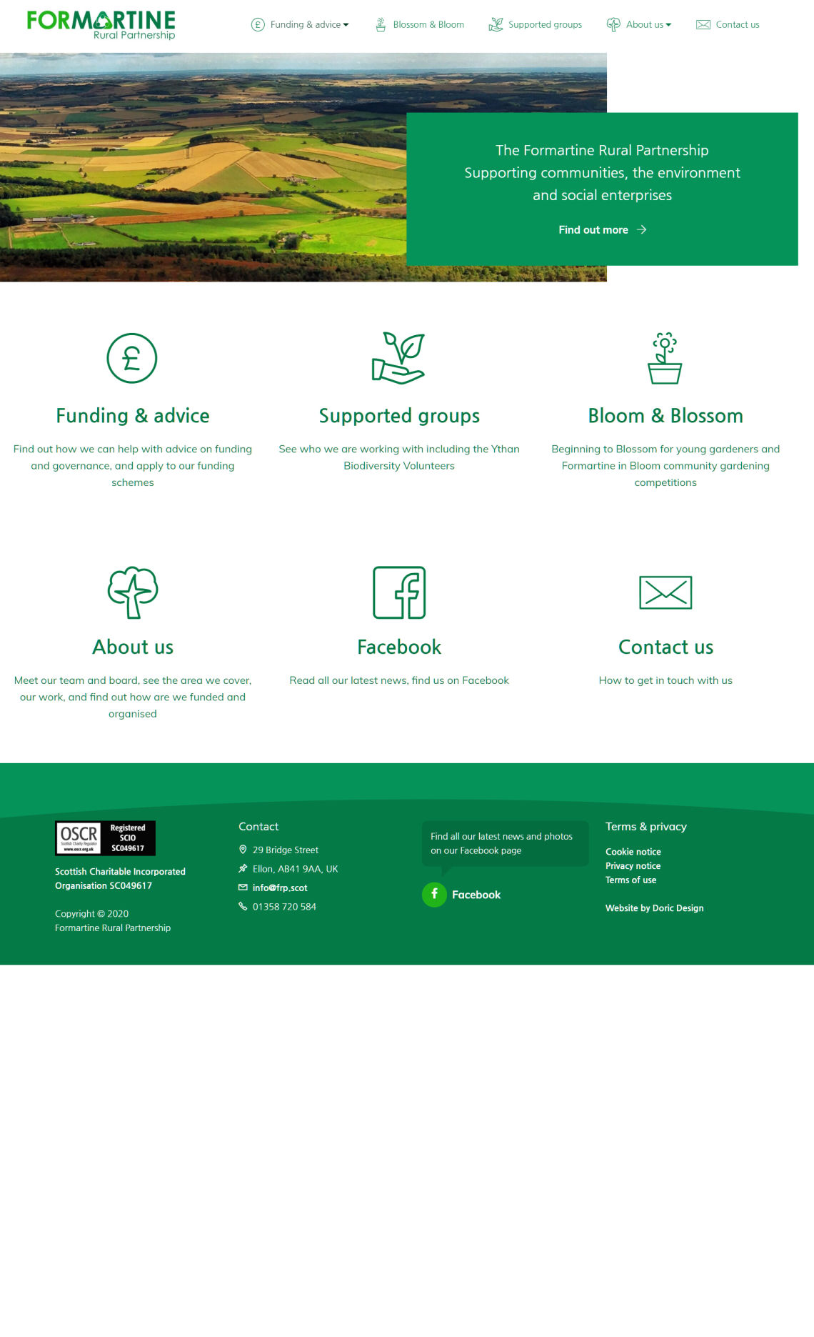 Homepage of the Formartine Rural Partnership